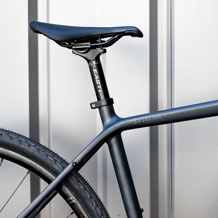 Close up of seat post and Baseline model name