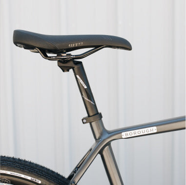 Close up of Borough Saddle and Seatpost