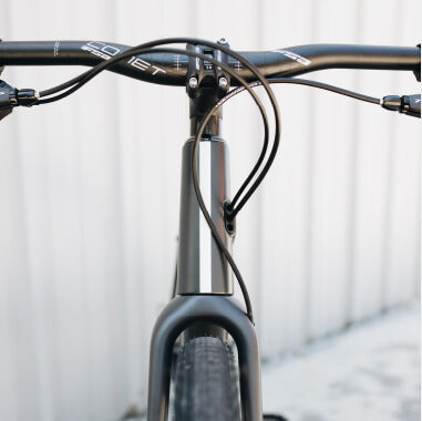 Front view of Borough handle bars and headtube