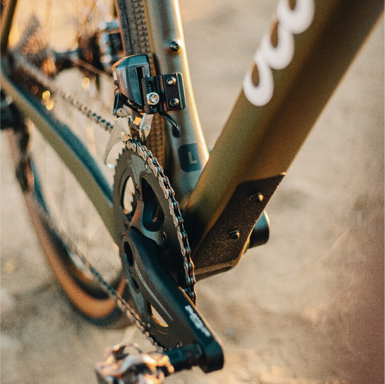 Close up of Ocoee Boundary Drivetrain and Pedal