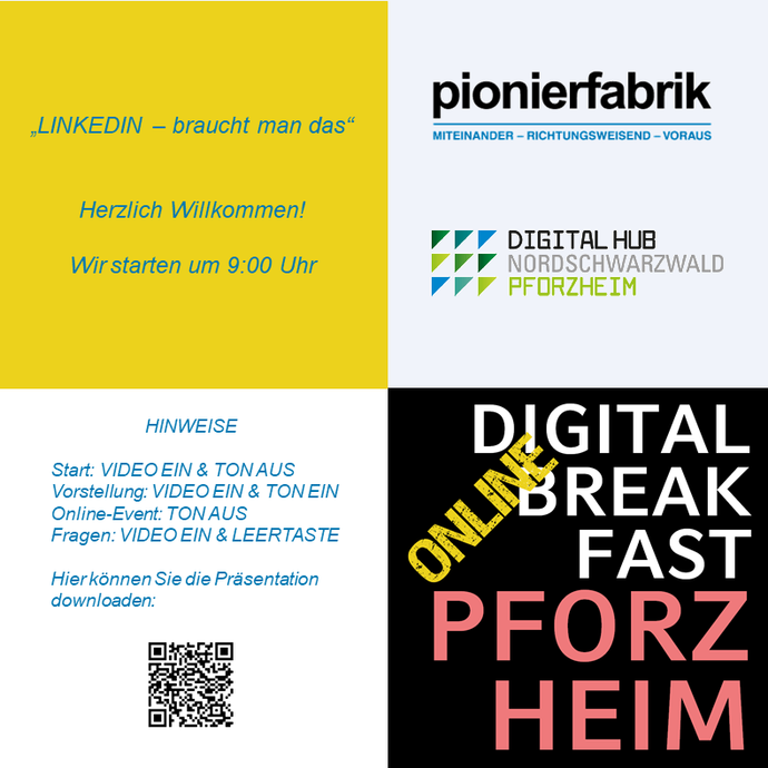 PRÄSENTATION | 17. Digital Breakfast Pforzheim: