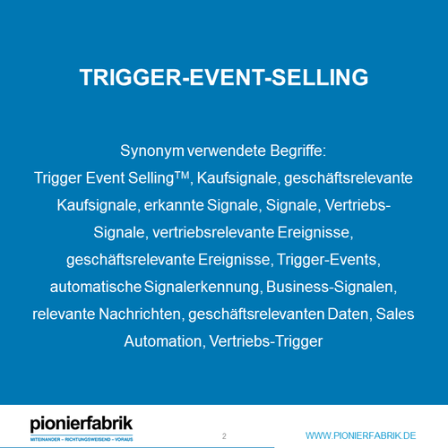 ANFRAGE: Whitepaper 61 Trigger Events