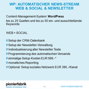 Automatischer News-Stream Web  & Social & Newsletter