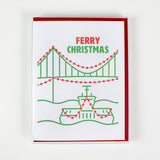 Ferry Christmas Letterpress Card (Set of 5)