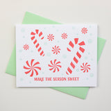 Sweet Peppermint Letterpress Card (Set of 5)