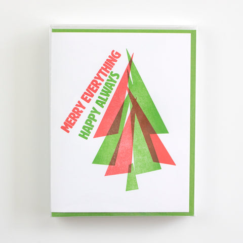 Merry Always Letterpress Card (Set of 5)
