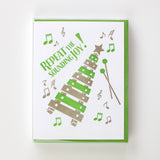 Repeat the Sounding Joy Letterpress Card (Set of 5)