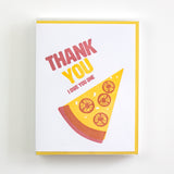 Pizza Thank You Letterpress Card (Set of 5)
