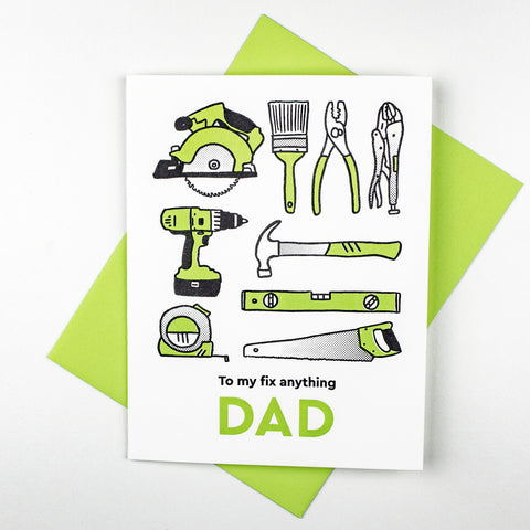 Fix It Dad Letterpress Card