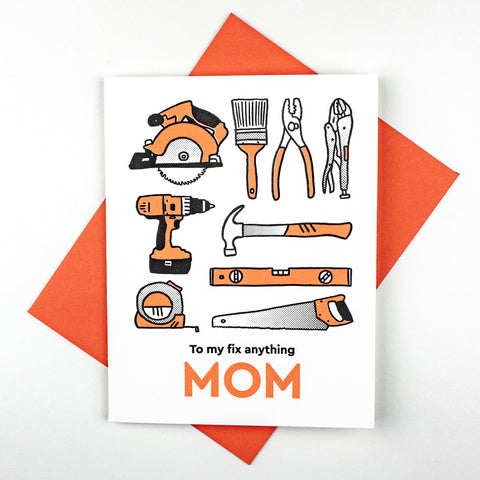 Fix It Mom Letterpress Card