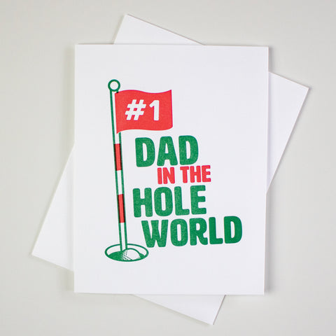 Golf Father's Day Letterpress Card