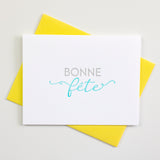 French Birthday Letterpress Card