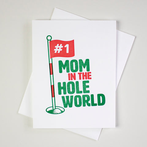 Golf Mother's Day Letterpress Card