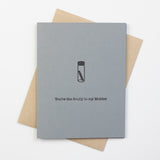 X-Files Scully (vial) Letterpress Card