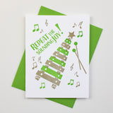 Repeat the Sounding Joy Letterpress Card