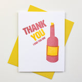 Wine Thank You Letterpress Card (Set of 5)