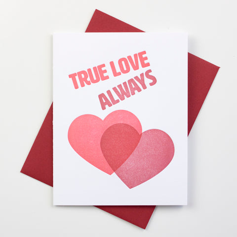True Love Always Letterpress Card