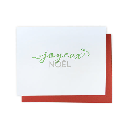 Joyeux Noël Letterpress Card (Set of 5)