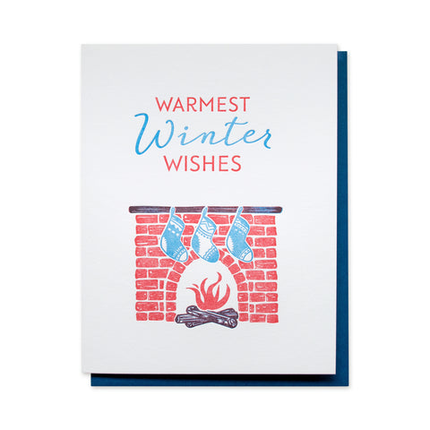 Warmest Winter Wishes Letterpress Card (Set of 5)