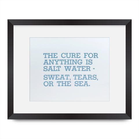Salt Water Cure Letterpress Print