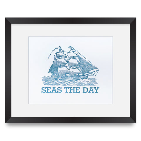 Seas The Day Letterpress Print