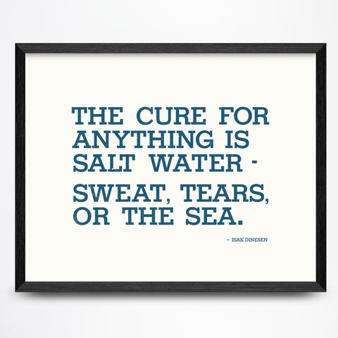 Salt Water Cure Poster