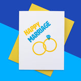 Happy Marriage Letterpress Card