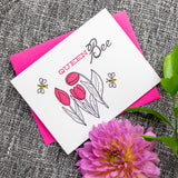 Queen Bee Letterpress Card