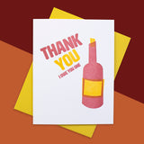 Wine Thank You Letterpress Card