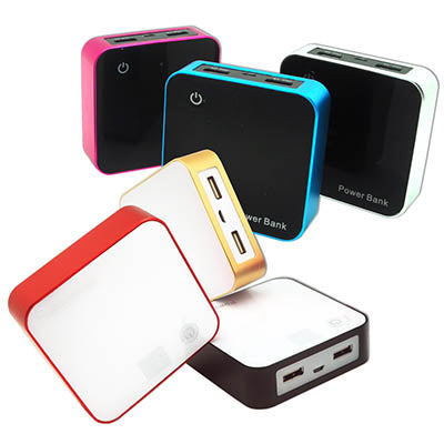 4000mah Powerbank with 2 USB and Power Indicator