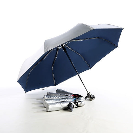 Auto open & close 3 fold UV coated umbrella