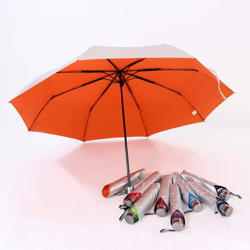 Foldable umbrella with UV coating