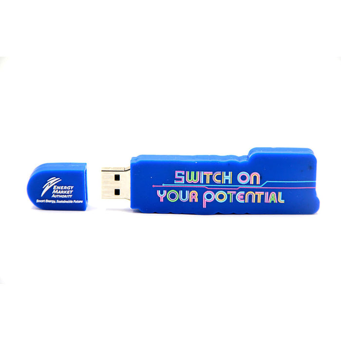 2D – Customized Rubber USB Drive