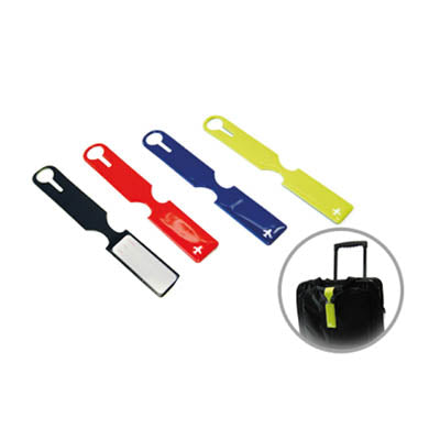 Slim pvc luggage tag