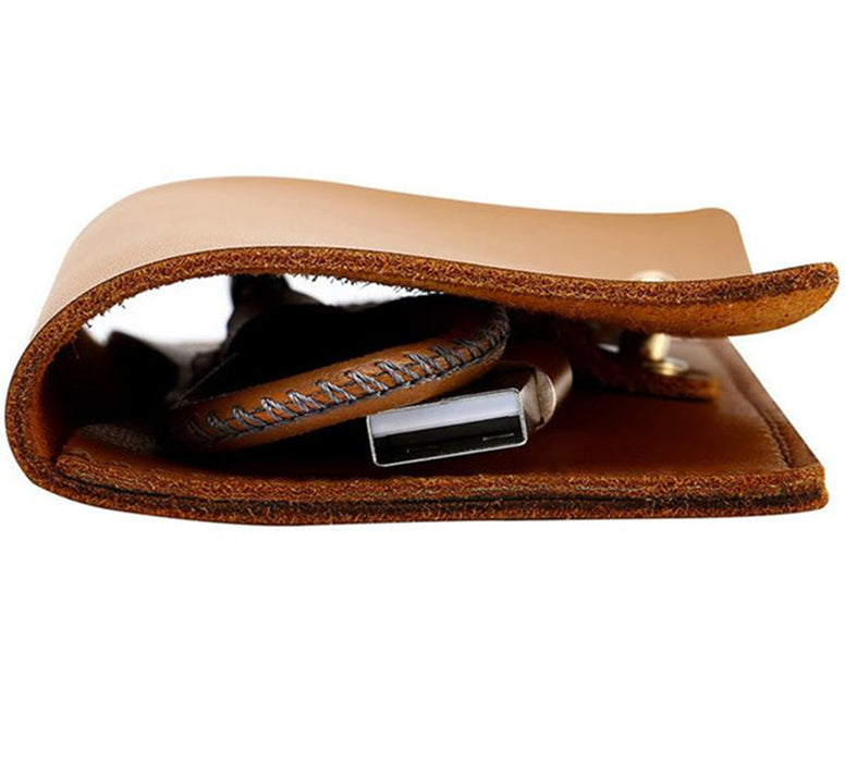 Leather Card Storage 30 CM Mobile Cable