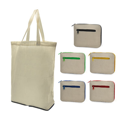 FOLDABLE COTTON BAG WITH ZIP