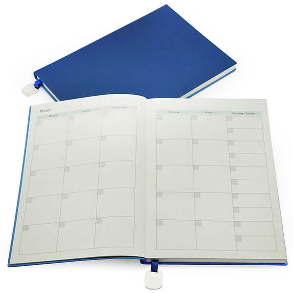 A5 Notebook with Metal Bookmark