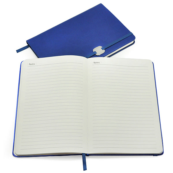 A5 Hard Cover Notebook with Metal Plate