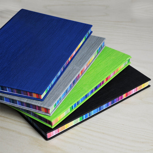 A5 Hard Cover Notebook with Rainbow Side