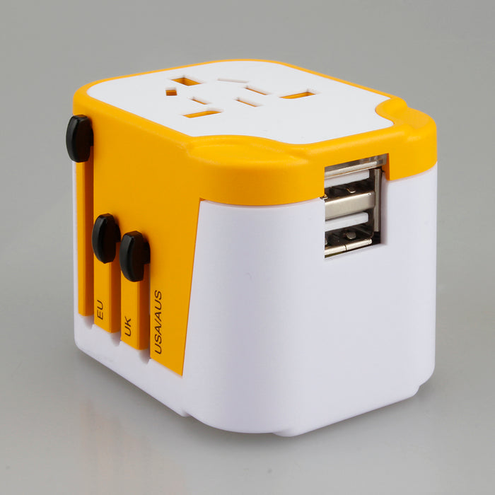 2 USB port travel adapter