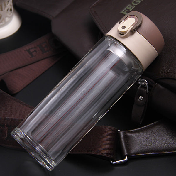 Glass Tumbler with Tea Strainer