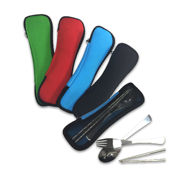 3 PC Cutlery-Set-in-Neoprene-Pouch