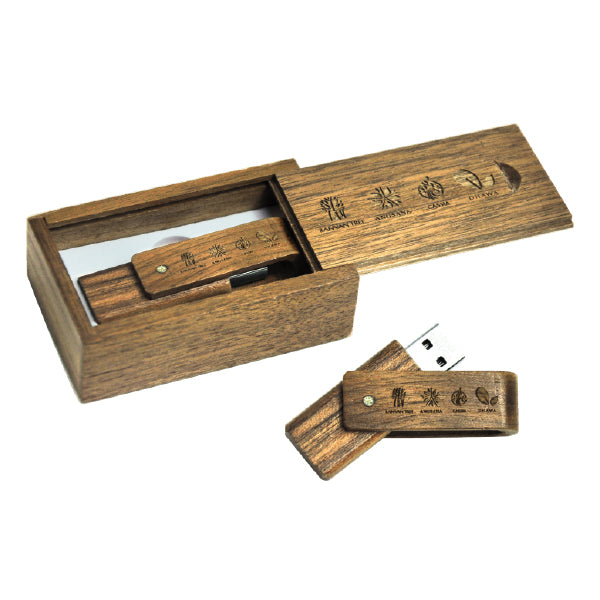 Wooden Swivel USB