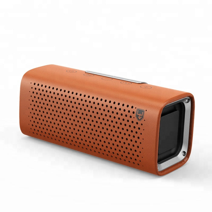 Mini Wireless Leather Bluetooth Twin Speaker