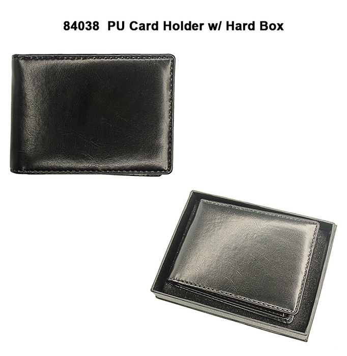 PU Card Holder with Black Hard Box