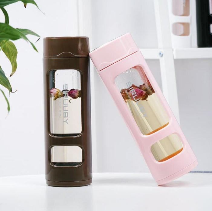 Hot Water Anti-Fall Glass Water Bottle