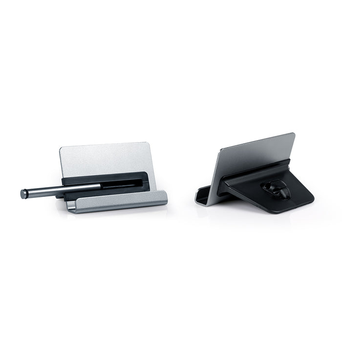 Apoyo Phone Stand With Stylus & Cable Holder (Dark Grey)