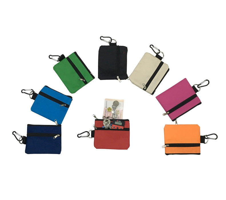 Pouch with zipper & carabiner