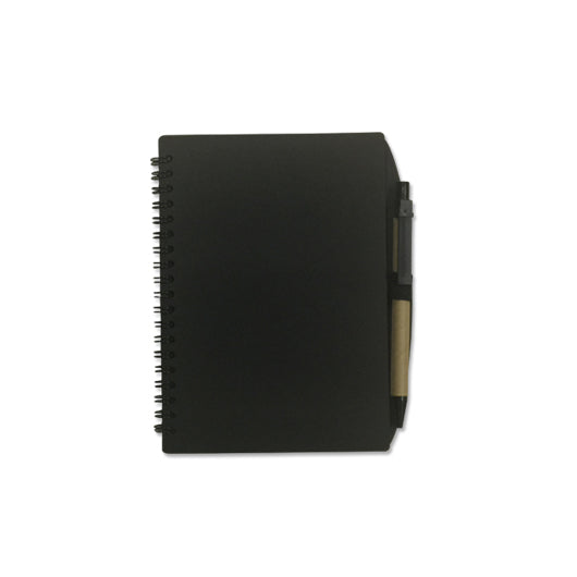A5 Recycle notebook with post-it, namecard slot n pen