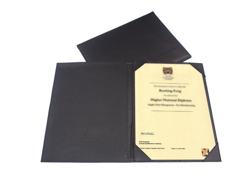 Single-sided PU Certificate Holder
